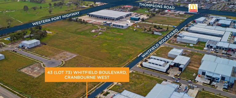 Factory, Warehouse & Industrial commercial property for lease at 43 (Lot 73 Whitfield Boulevard Cranbourne West VIC 3977
