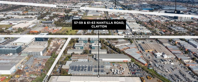 Factory, Warehouse & Industrial commercial property for lease at 57-63 Nantilla Road Clayton VIC 3168