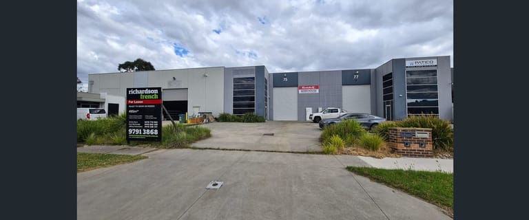 Factory, Warehouse & Industrial commercial property for lease at 77 Rodeo Drive Dandenong South VIC 3175
