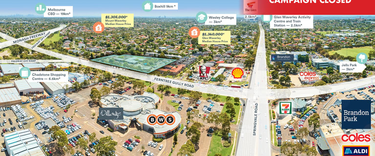Development / Land commercial property for sale at 583 Ferntree Gully Road Glen Waverley VIC 3150