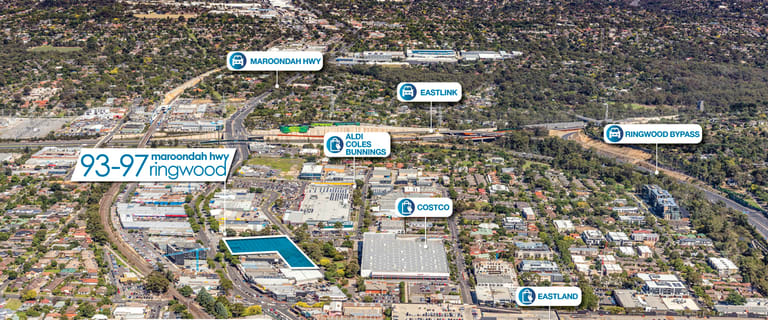 Showrooms / Bulky Goods commercial property for sale at 93-97 Maroondah Hwy Ringwood VIC 3134
