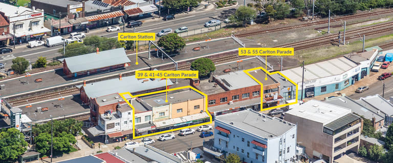 Retail commercial property for sale at 39 & 41-45 and 53 & 55 Carlton Parade Carlton NSW 2218