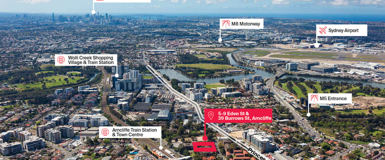 Development / Land commercial property for sale at 5-9 Eden Street and 39 Burrows Street Arncliffe NSW 2205
