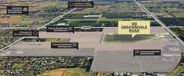 Development / Land commercial property for sale at 139 Grahamvale Road Shepparton VIC 3630
