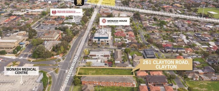 Development / Land commercial property for sale at 261 Clayton Road Clayton VIC 3168