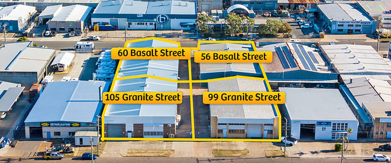 Factory, Warehouse & Industrial commercial property for sale at 99 & 105 Granite Street & 56 & 60 Basalt Street Geebung QLD 4034