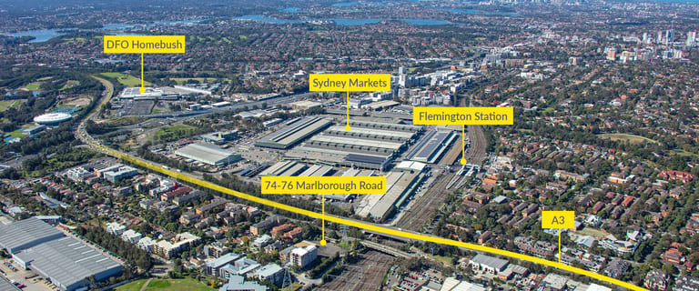 Development / Land commercial property sold at 74-76 Marlborough Road Homebush West NSW 2140