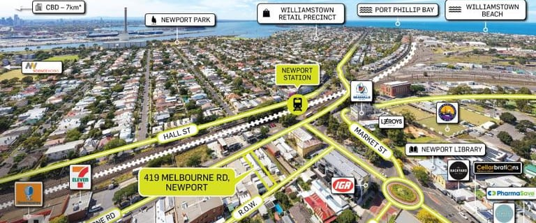 Shop & Retail commercial property for sale at 419 Melbourne Road Newport VIC 3015