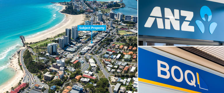 Shop & Retail commercial property for sale at ANZ & BOQ Banks 24-28 Griffith Street Coolangatta QLD 4225