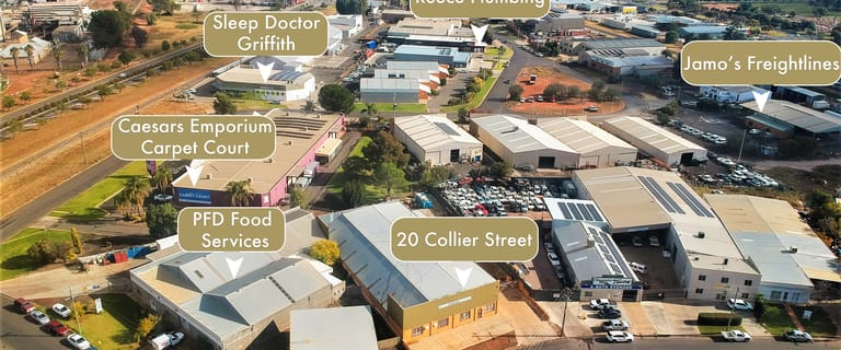 Factory, Warehouse & Industrial commercial property sold at 20 Collier Street Griffith NSW 2680