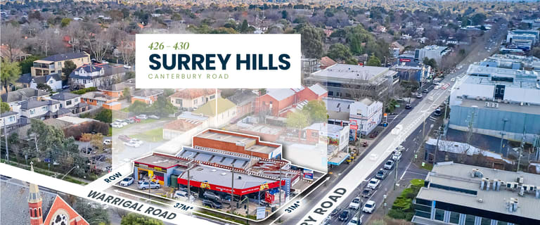 Development / Land commercial property for sale at 426-430 Canterbury Road (Corner of Warrigal Road) Surrey Hills VIC 3127
