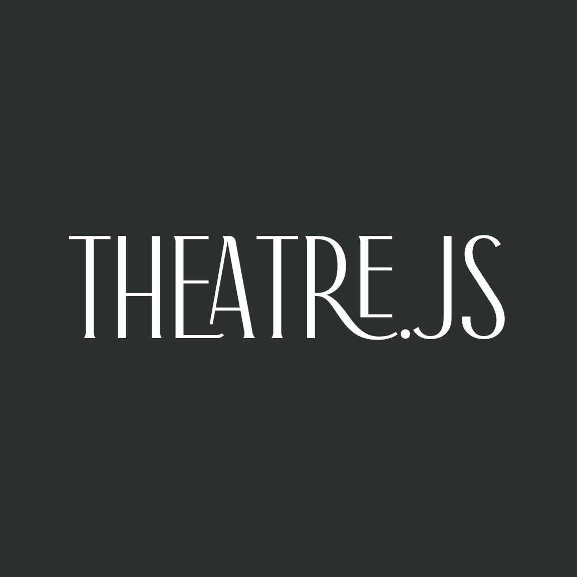 built with theatre js