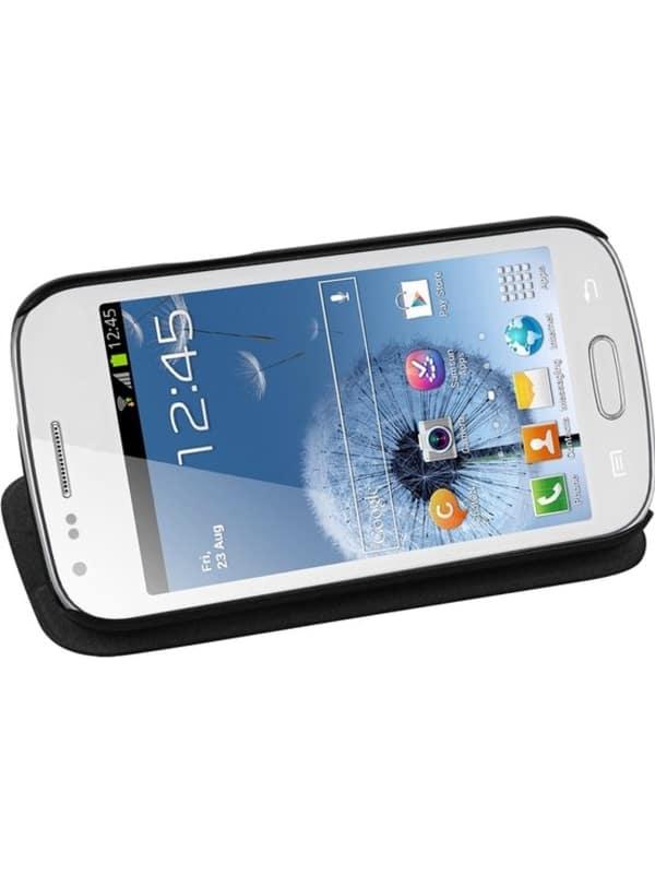 Azuri booklet ultra thin PU leder voor Samsung Trend Lite - zwart