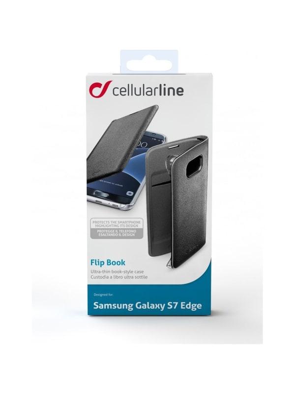 Cellular Line Galaxy S7 Edge - Flip Book - zwart