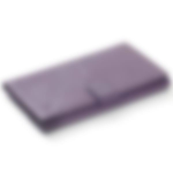 Oak Grain leather slim clutch wallet