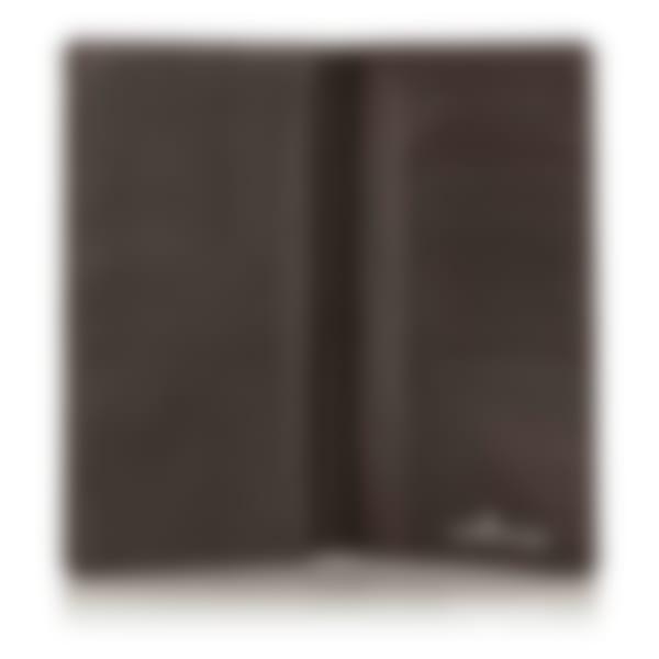 Malvern leather breast wallet open