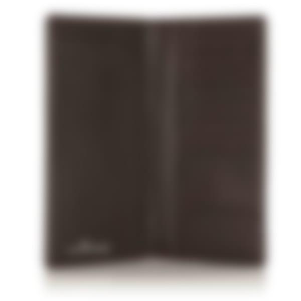 Malvern leather coat wallet open