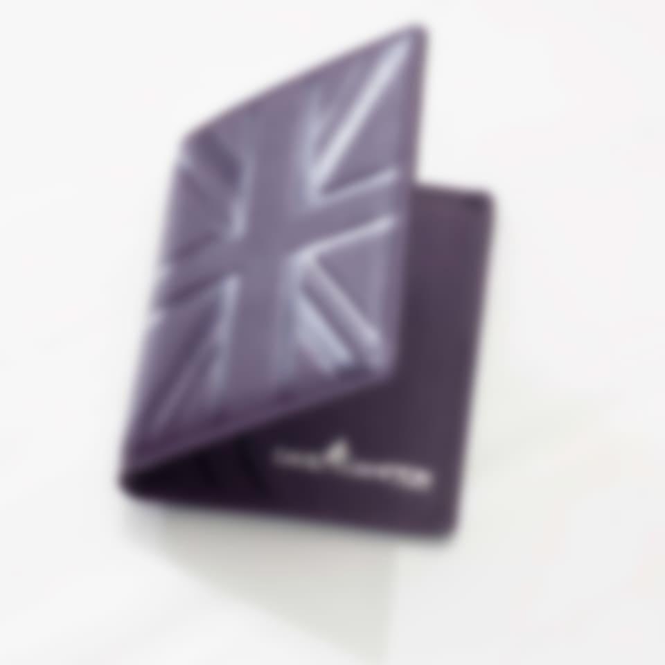 Leather travel card holder in Britannia