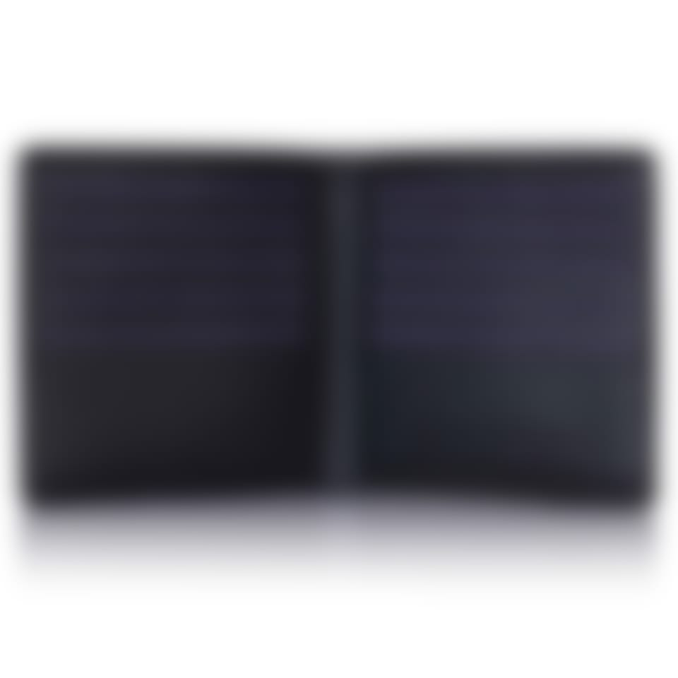 Black Saffiano leather credit card wallet open
