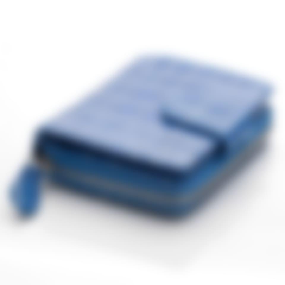 Blue Nile croco leather French purse