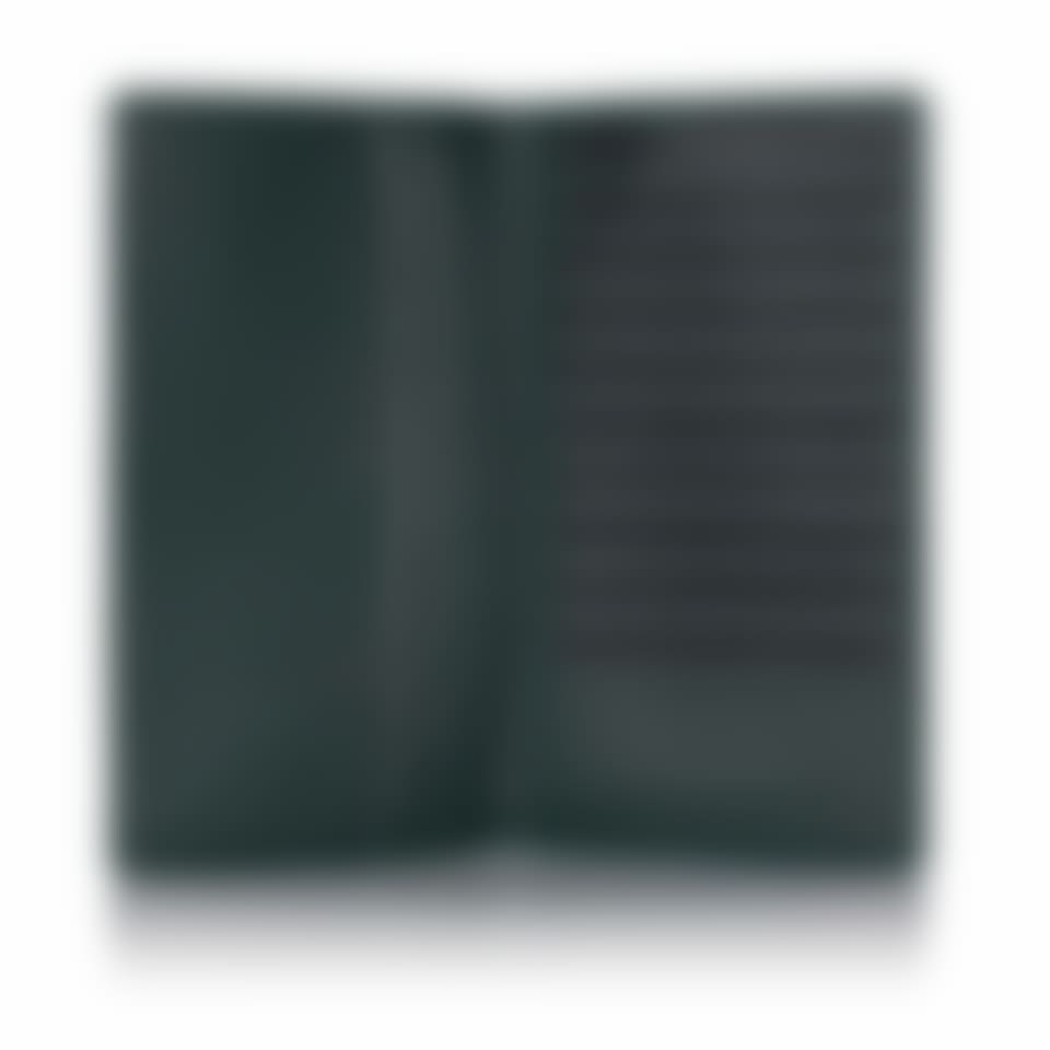 Green Label luxury leather breast wallet open