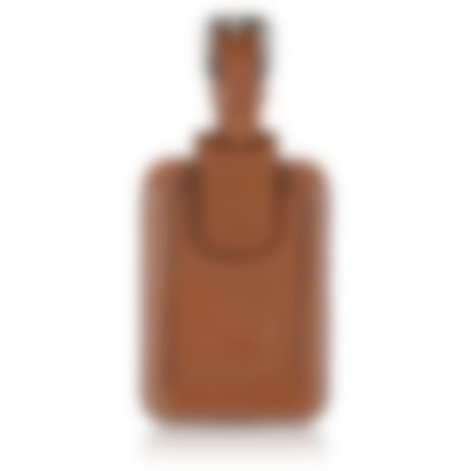 Livingstone leather luggage tag