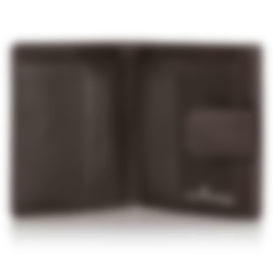 Malvern leather compact purse open