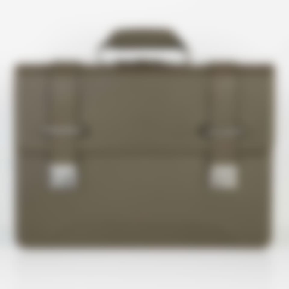 Richmond leather 2 compartment flap over briefcase