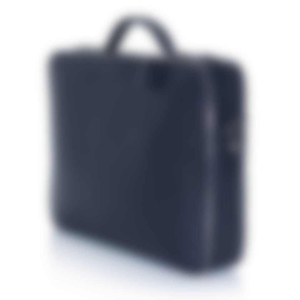 Richmond leather laptop briefcase side