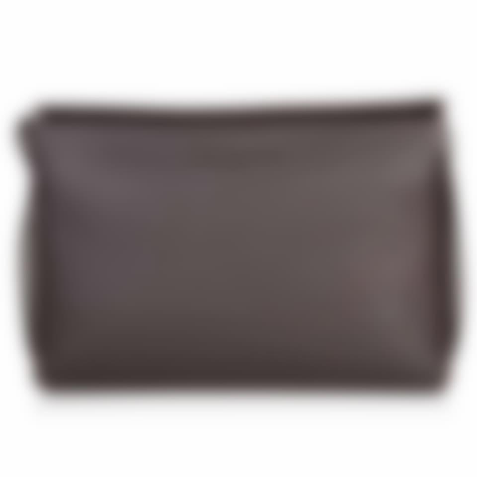 Richmond leather flat top messenger bag