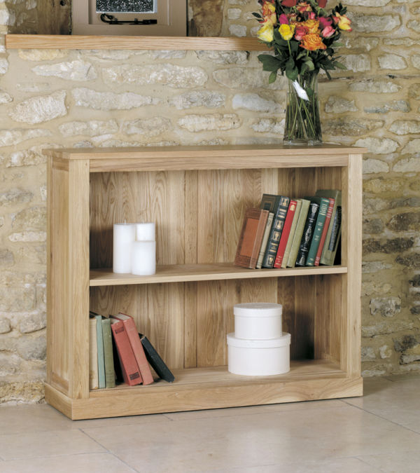 Mobel Light Oak Low Bookcase