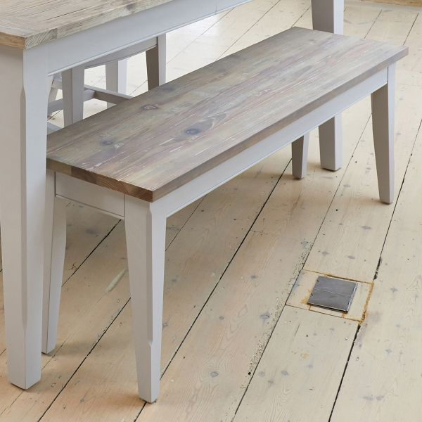 Signature Grey Dining Bench (130cm)