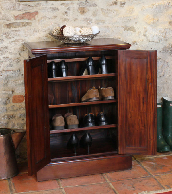 Mahogany Shoe Cupboard - La Roque