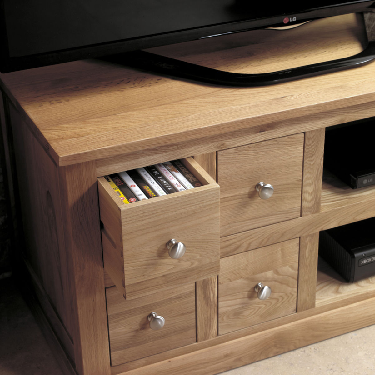 Mobel Oak Four Drawer Television Cabinet Was 163 420 00 Now 163 399 00 Wooden Furniture Store