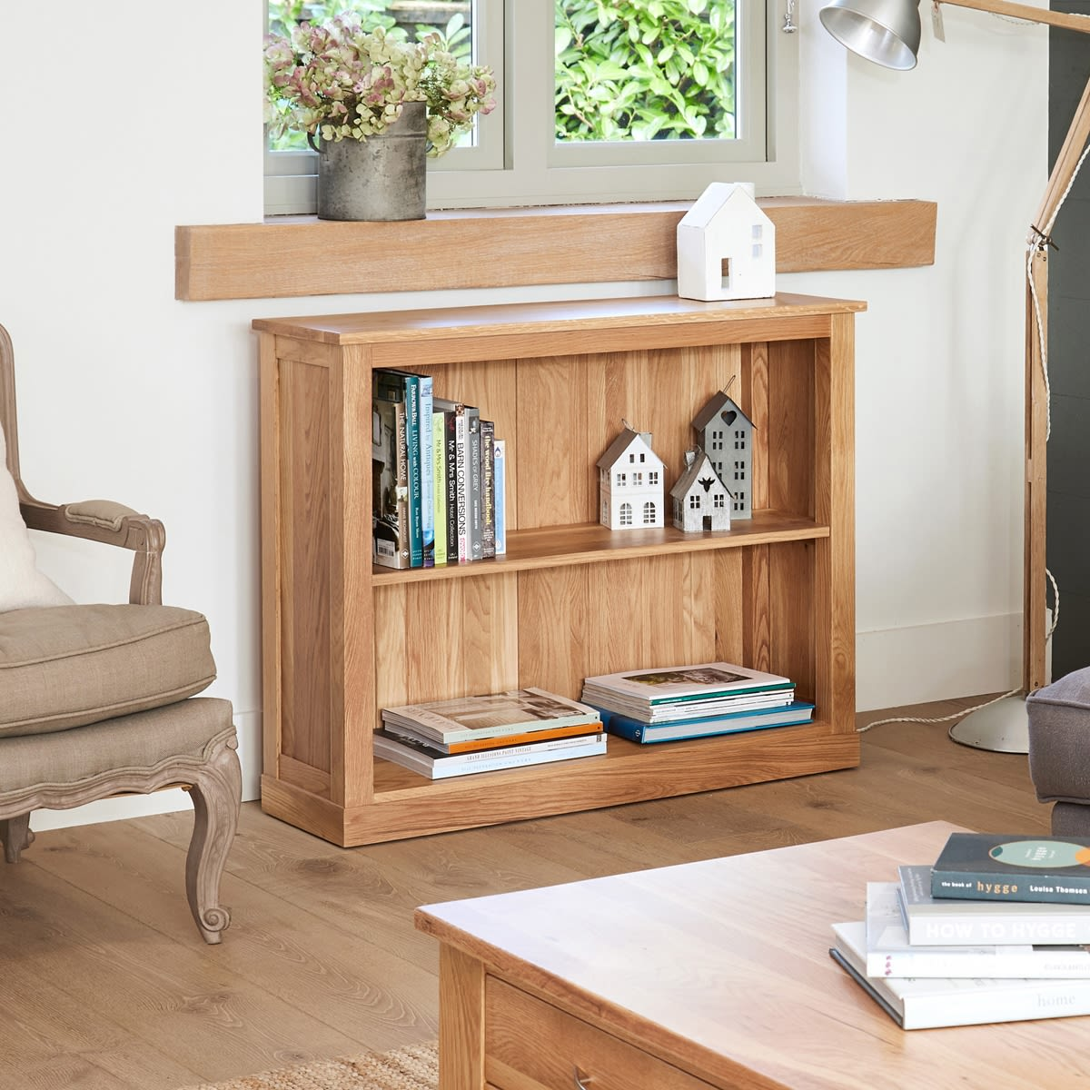 Low Priced Furniture Stores: Mobel Oak Low Bookcase Was £360.00 Now £305.10