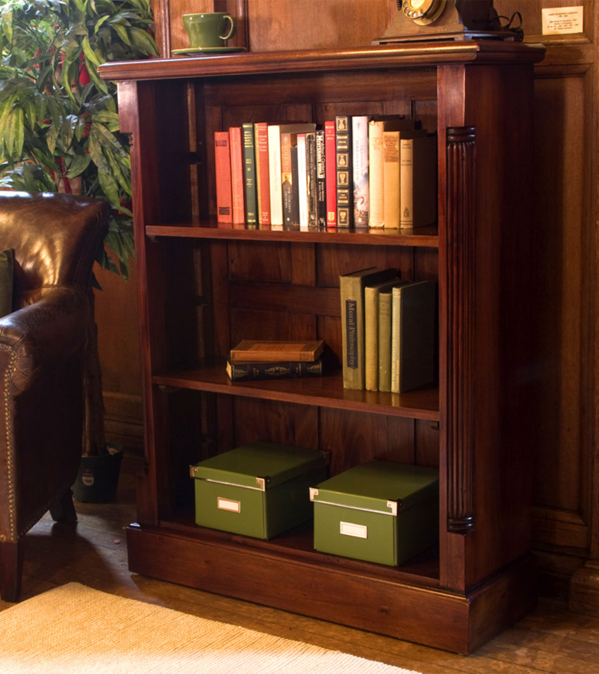La Roque Low Open Mahogany Bookcase Was £555.00 Now £499