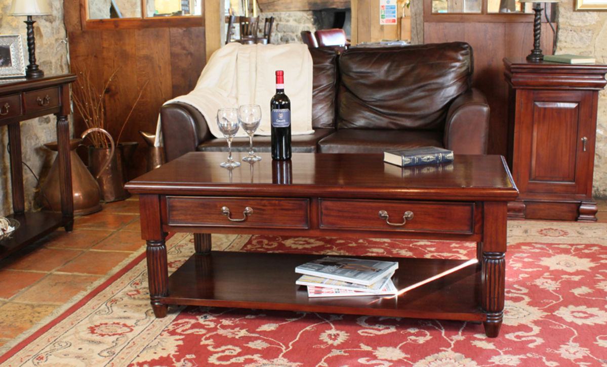 Mahogany Coffee Table With Drawers La Roque Was 163 565 00