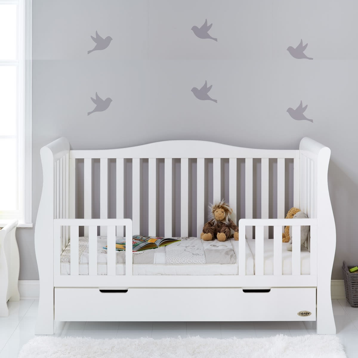 Furniture Stores Stamford: Stamford Luxe Sleigh Cot Bed Was £549.99 Now £449.99