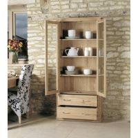 Buy Mobel Oak Large Glazed Display Cabinet Online At