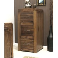 Buy Shiro Walnut Three Drawer Filing Cabinet Online At