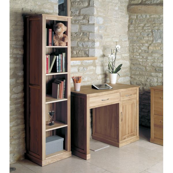 Mobel Light Oak Narrow Bookcase