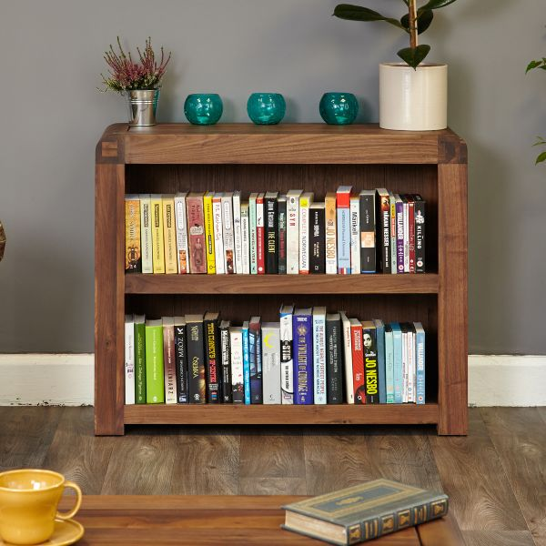 Shiro Walnut Low Bookcase