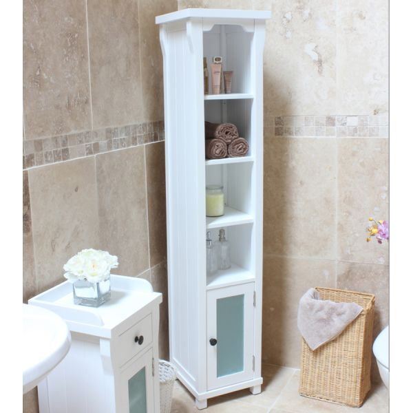 Vermont White Open Bathroom Unit Tall
