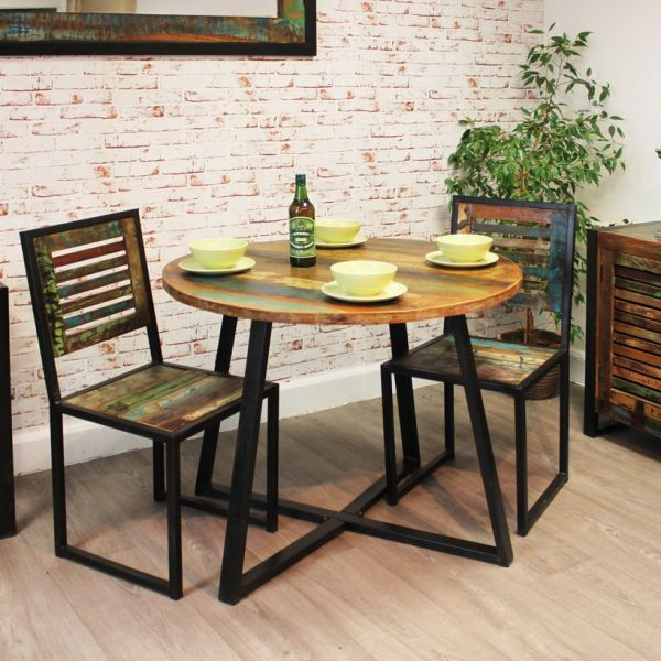 Urban Chic round dining set with two chairs