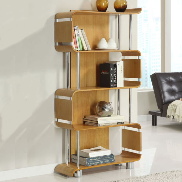 Curve Oak Bookcase