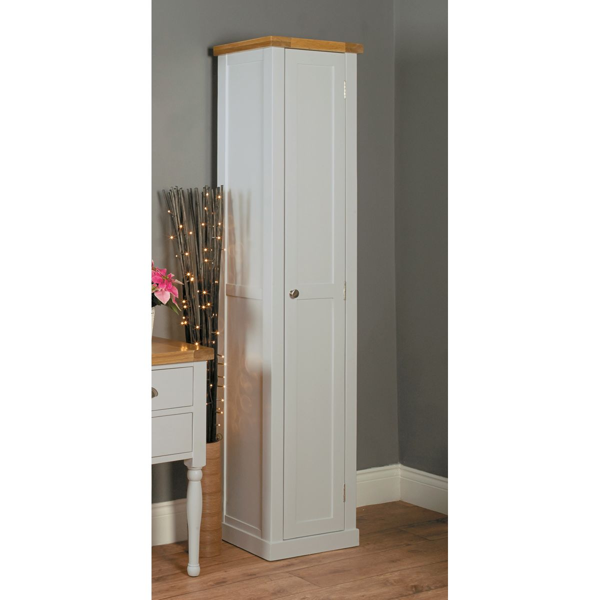 chadwick grey tall shoe cupboard buy online at wooden furniture store chadwick satin lacquered oak hidden