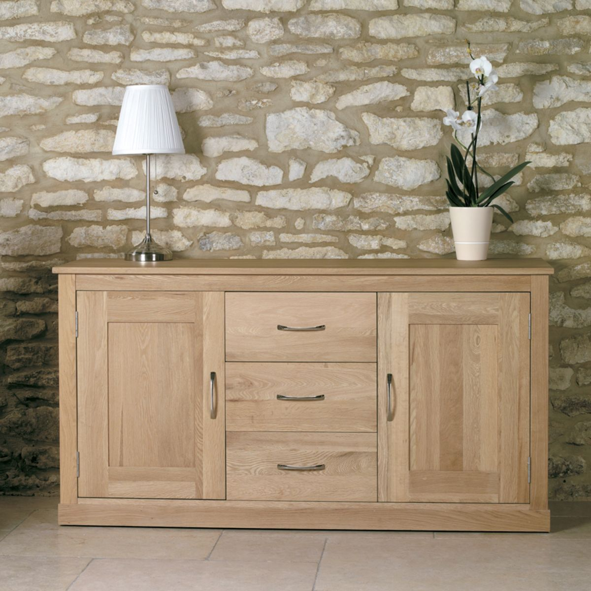 Mobel oak large sideboard wooden furniture store for Mobel