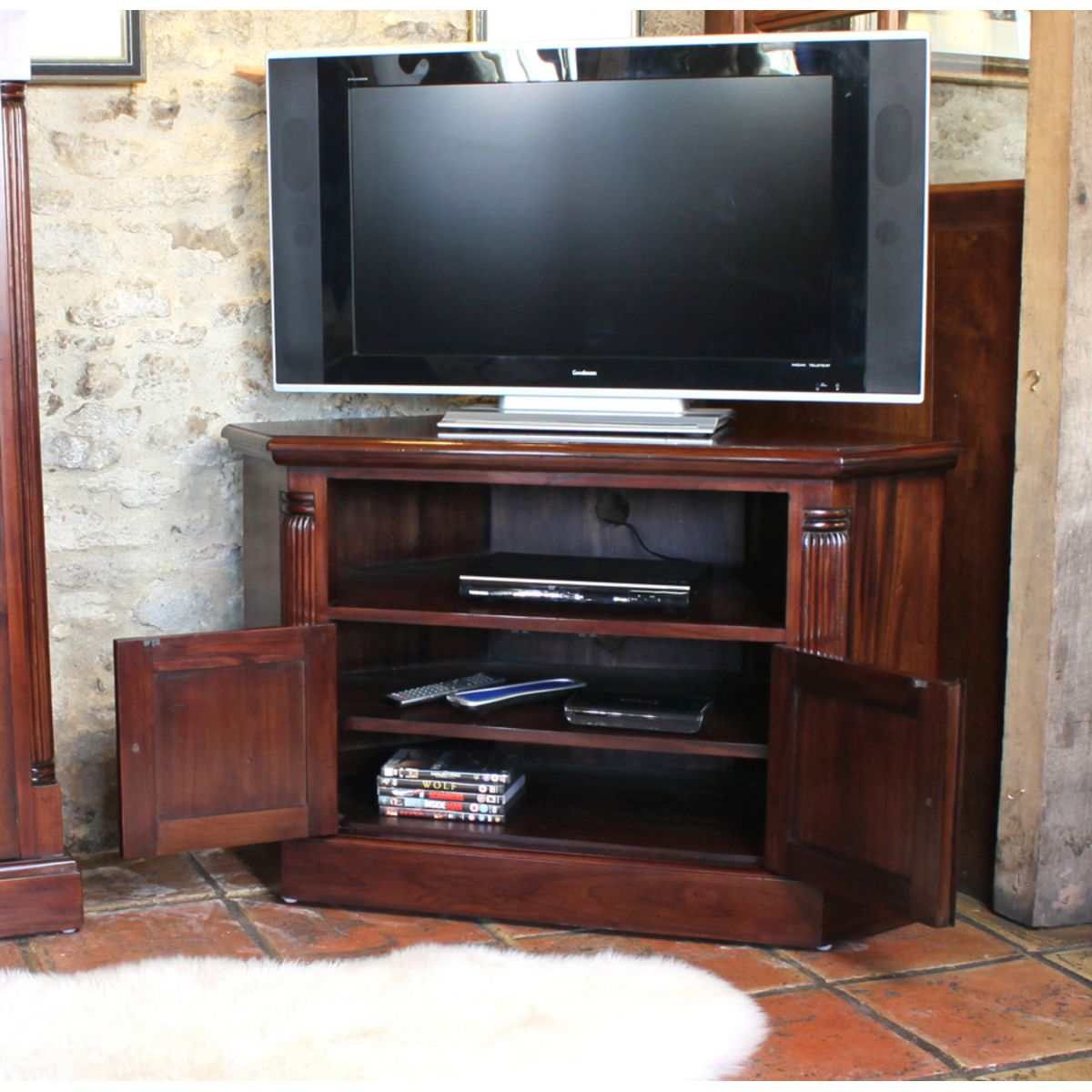 tv furniture cabinets mahogany corner television cabinet wooden furniture 27354