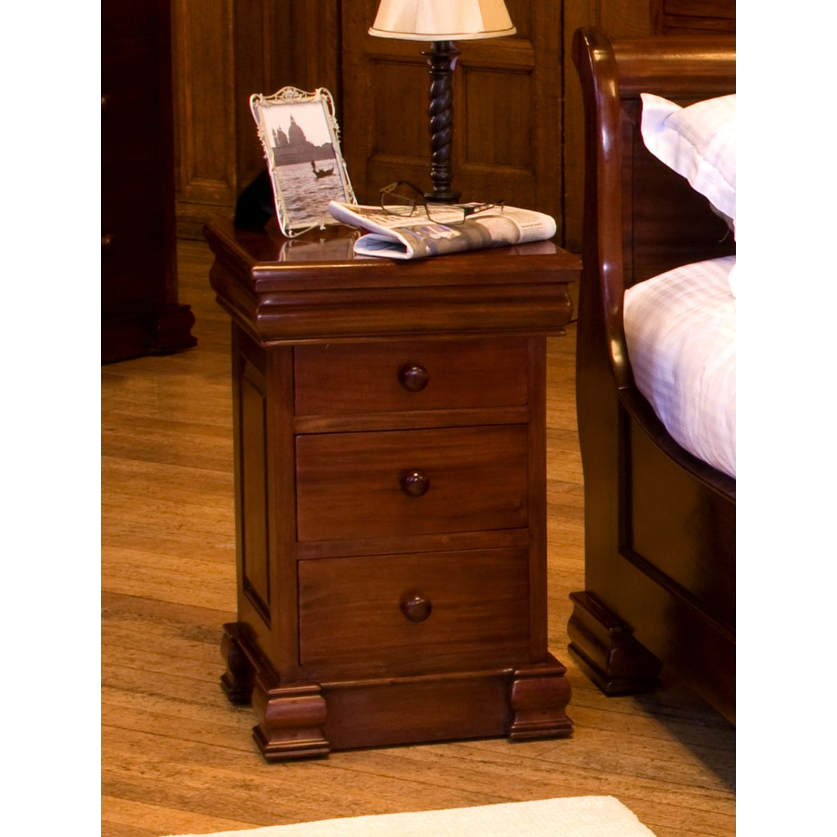 La Roque Four Drawer Mahogany Lamp Table Wooden
