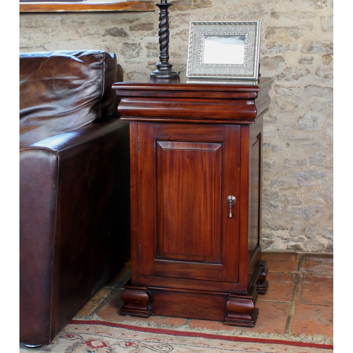 Mahogany Lamp Table And Pot Cupboard Wooden Furniture Store